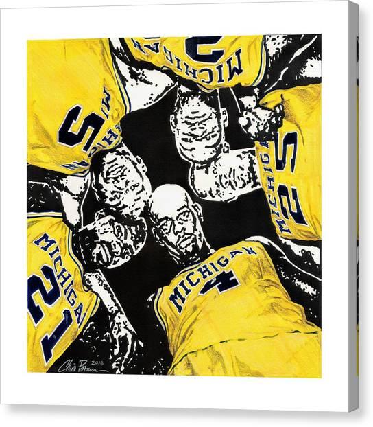 Fab Five At 25 Canvas Print