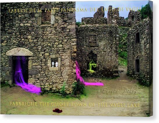 Canvas Print featuring the photograph Fabbriche Di Vagli Paese Fantasma Ghost Town 2 by Enrico Pelos
