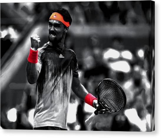 Maria Sharapova Canvas Print - Fabio Fognini by Brian Reaves