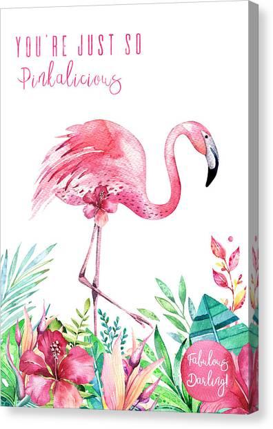 Canvas Print - Fabulous Flamingo - Pinkalicious by Amanda Lakey