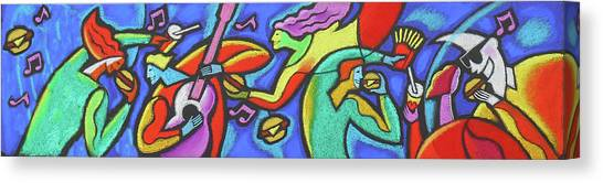 Mustard Canvas Print - Fabulous Outdoor Party by Leon Zernitsky