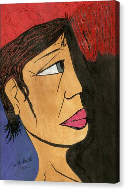Face 2 Canvas Print by Umesh U V
