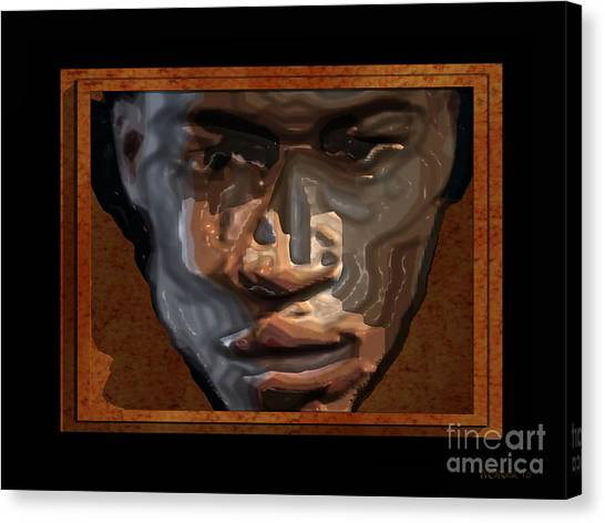Face In A Box Canvas Print by Walter Oliver Neal