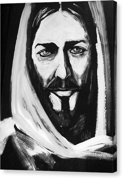 Face Of Christ Canvas Print by Larry Cole