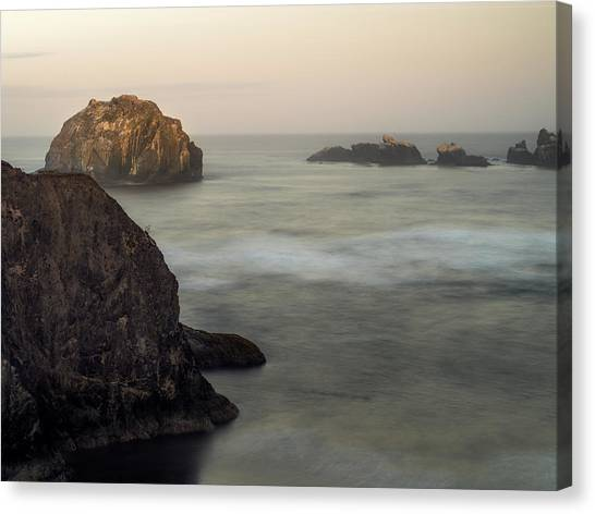 Face Rock Sunrise Canvas Print