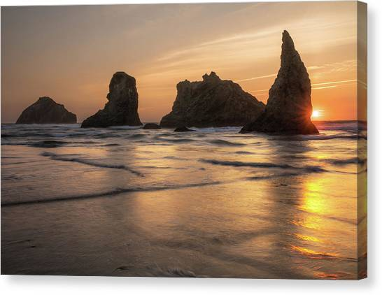 Face Rock Sunset Canvas Print