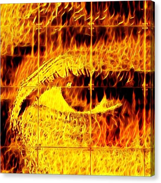 Canvas Print - Face The Fire by Gina Callaghan