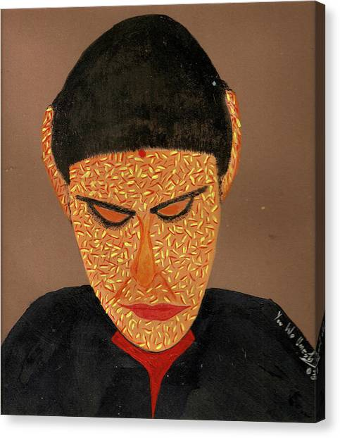 Face Canvas Print by Umesh U V