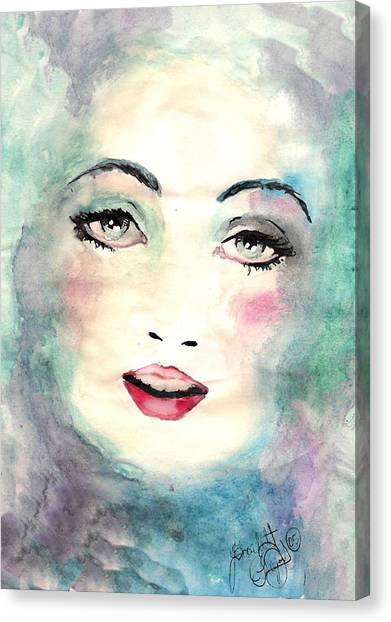 Face Upon The Water Canvas Print by Scarlett Royal