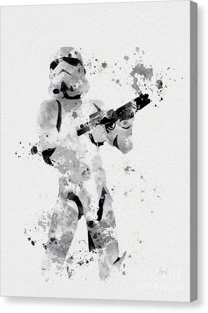 Droid Canvas Print - Faceless Enforcer by Rebecca Jenkins