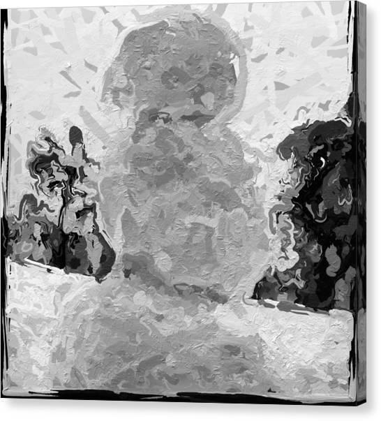 Canvas Print - Faceless Snowman by Modern Art