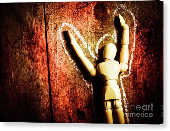 Police Canvas Print - Faceless Victim by Jorgo Photography - Wall Art Gallery