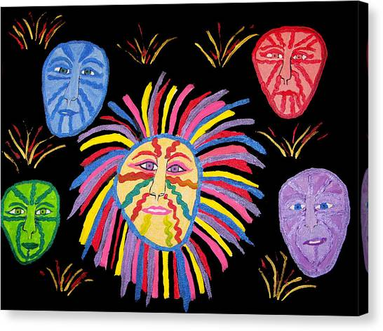 Faces Out Of The Dark  Canvas Print by Betty  Roberts