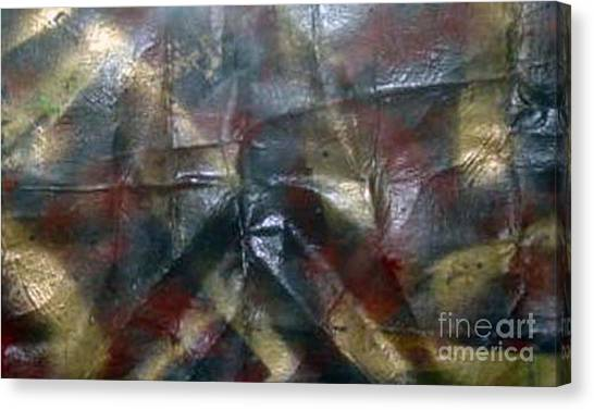 Facing Demons Of Demise Canvas Print by Paula Andrea Pyle