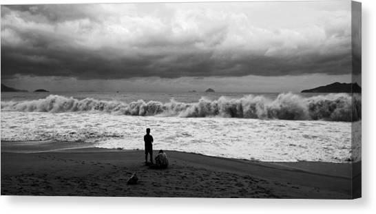 Facing The Storm Canvas Print by Kim Lagerhem