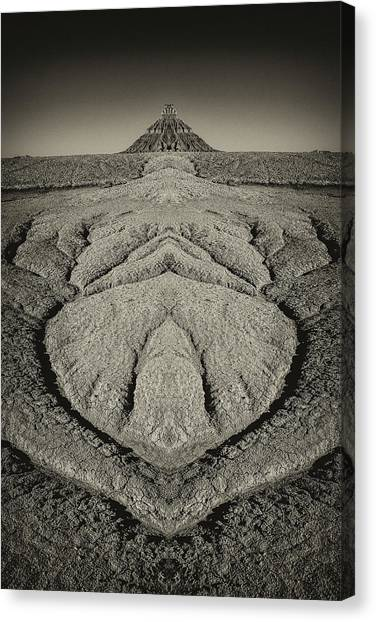 Factory Butte Digital Art Canvas Print