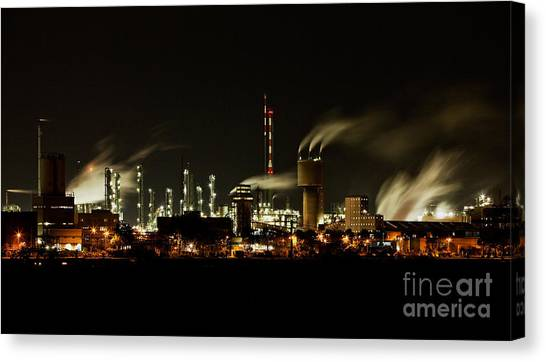 Tanks Canvas Print - Factory by Nailia Schwarz