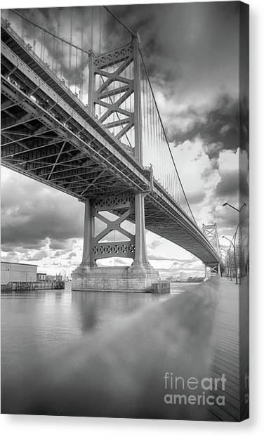 Fade To Bridge Canvas Print