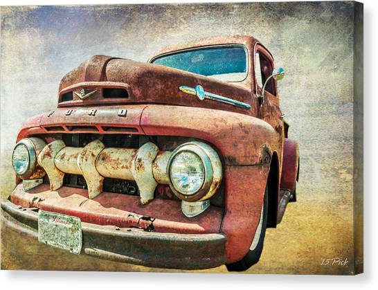 Faded Ford Canvas Print by Tom Pickering of Photopicks Photography and Art
