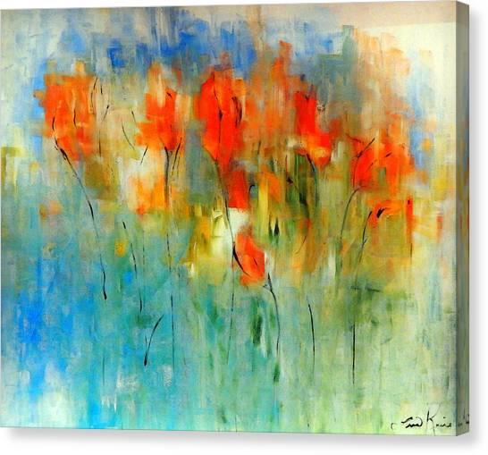 Faded Warm Autumn Wind Canvas Print