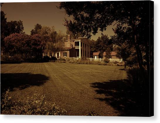 Canvas Print featuring the photograph Fading Glory - The Hermitage by James L Bartlett