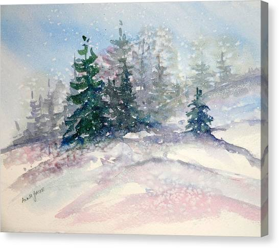 Fading Winter Light Canvas Print