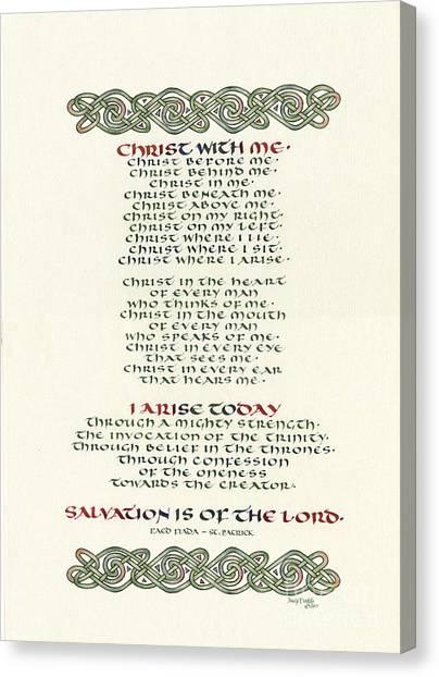 Celtic Art Canvas Print - Faed Fiada  by Judy Dodds