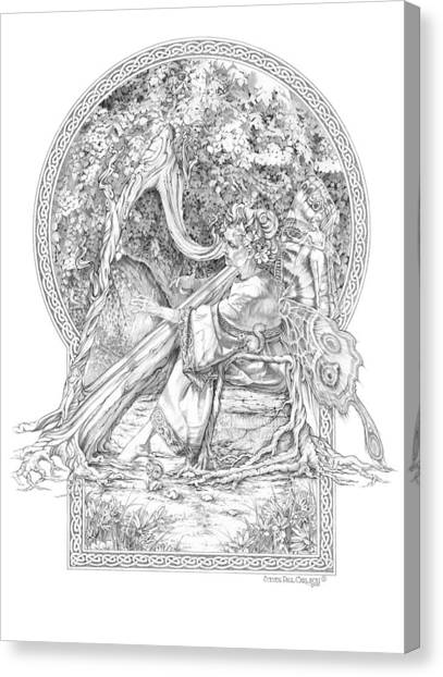 Faerie IIi - Woodland Opus - A Legendary Hidden Creation Series Canvas Print by Steven Paul Carlson