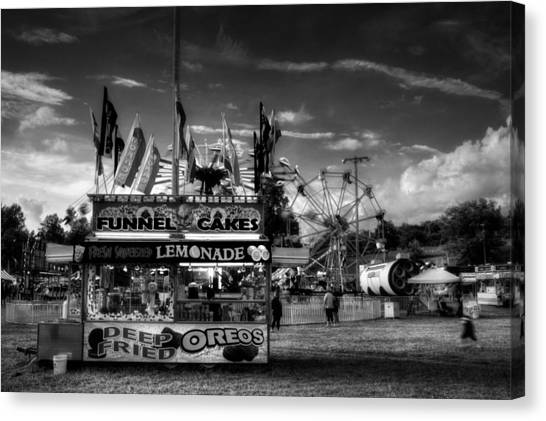 Fair Food In Black And White Canvas Print