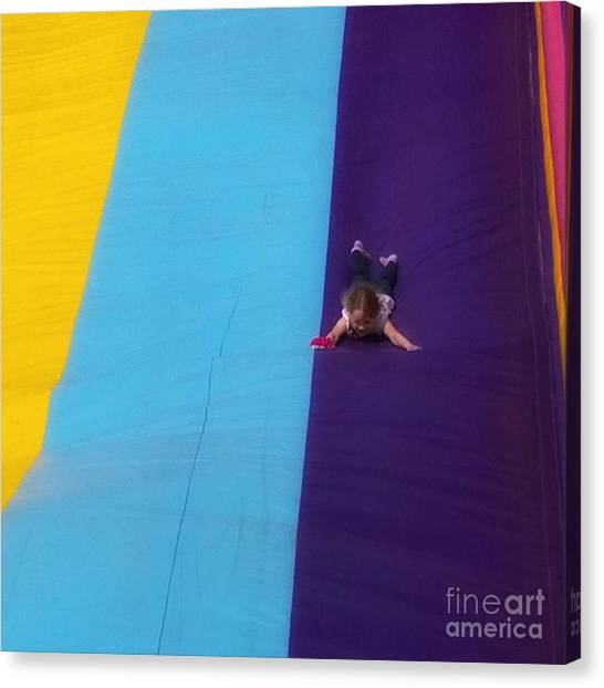 Humans Canvas Print - #fair #funfair #carnival #slide #slides by Abbie Shores