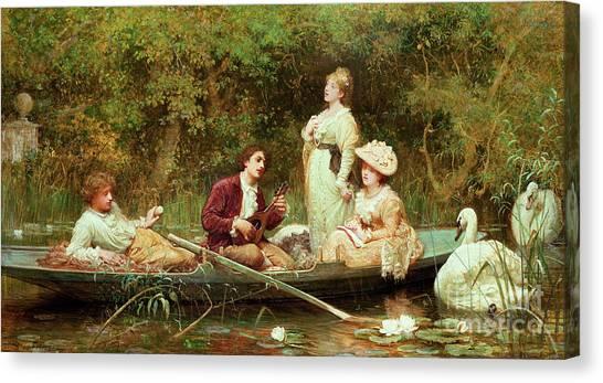 Victorian Garden Canvas Print - Fair, Quiet And Sweet Rest by Samuel Luke Fildes