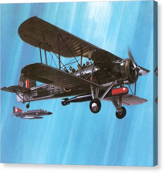 Swordfish Canvas Print - Fairey Swordfish by Wilf Hardy
