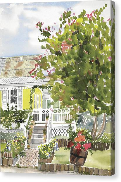 Fairfield Cottage Canvas Print by Anji Worton