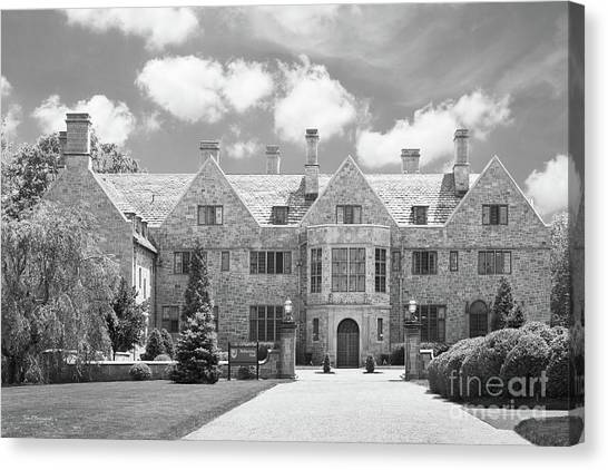 University Of Connecticut Canvas Print - Fairfield University Bellarmine Hall by University Icons