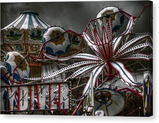 Fairground Rides Canvas Print