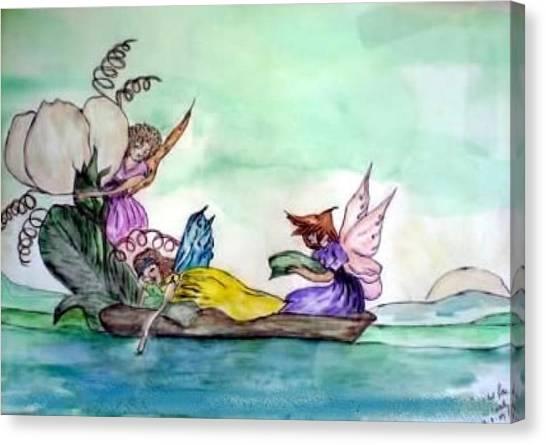 Fairies At Sea Canvas Print