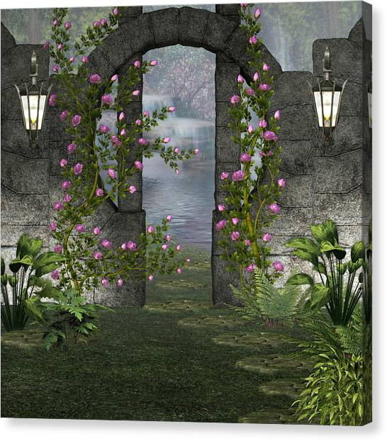 Fairies Door Canvas Print