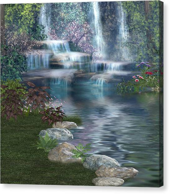 Fairies Hidden Lake Canvas Print