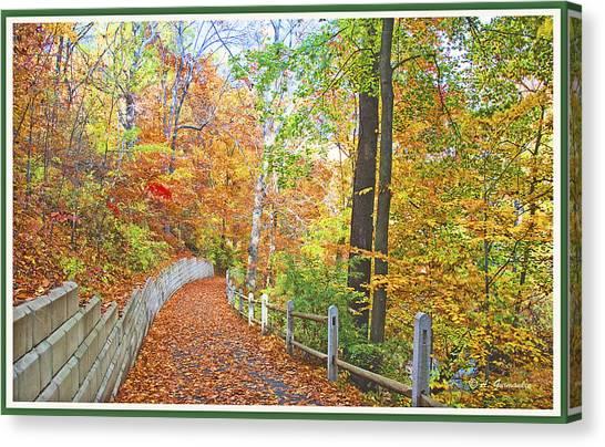 Fairmount Park Path In Autumn Philadelphia Pennsylvania Canvas Print