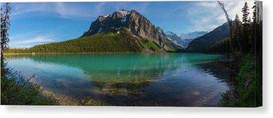Canvas Print featuring the photograph Fairview Mountain On Lake Louise by Owen Weber