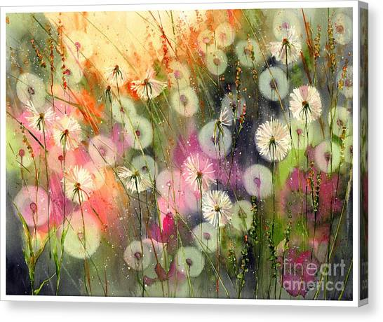 Delaware Canvas Print - Fairy Dandelions Fields by Suzann's Art