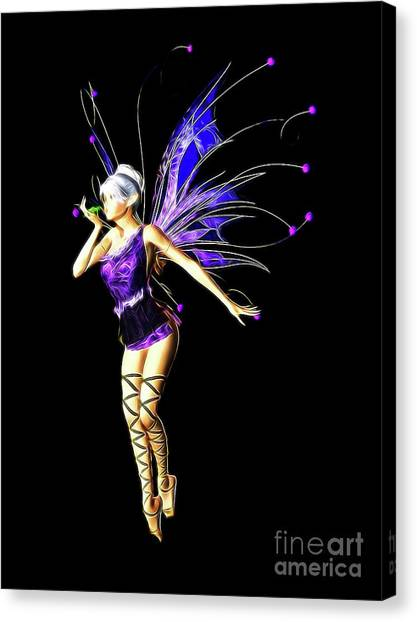 Folk Art Canvas Print - Fairy, Digital Art By Mb by Mary Bassett