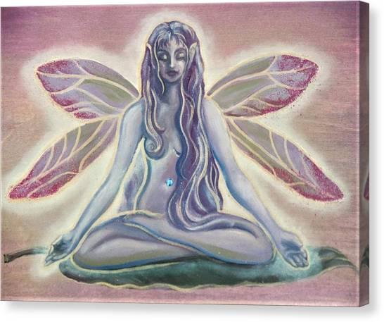 Fairy Doing Yoga Canvas Print