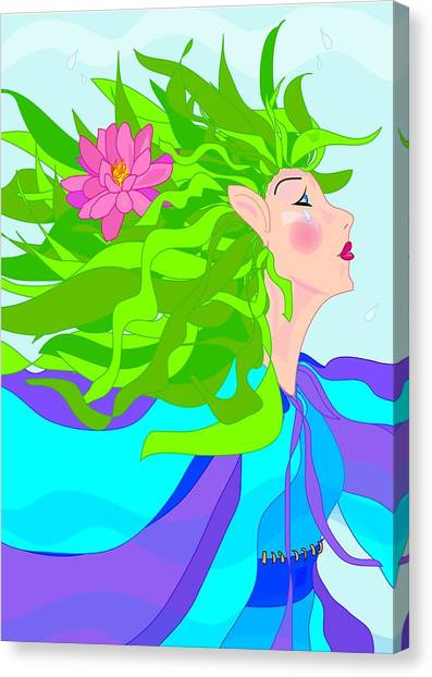 Fairy Girl Canvas Print by Susan Nelson