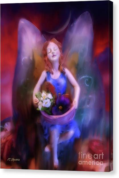 Fairy Of The Garden Canvas Print