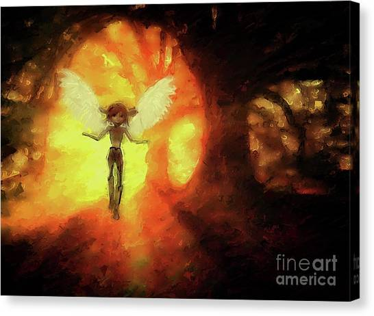 Fabled Canvas Print - Fairy Queen by Mary Bassett