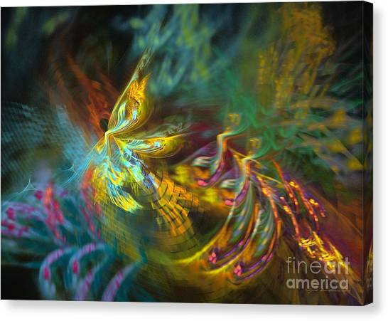 Canvas Print featuring the digital art Fairy by Sipo Liimatainen