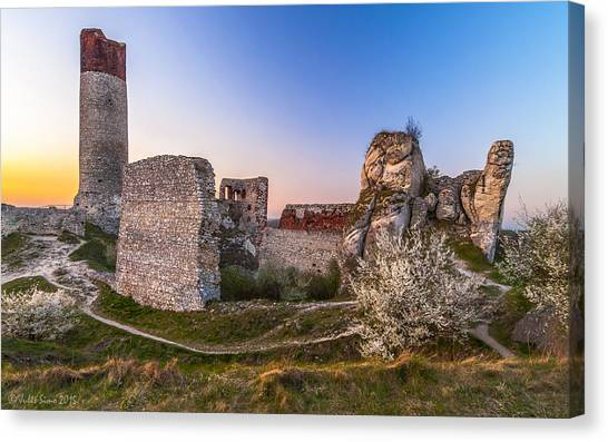 Fairy Tale Castle Remnants Canvas Print