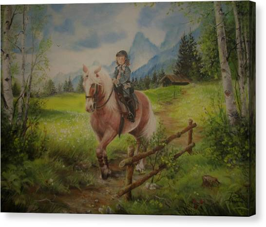 Fairy Tale In The Alps Canvas Print