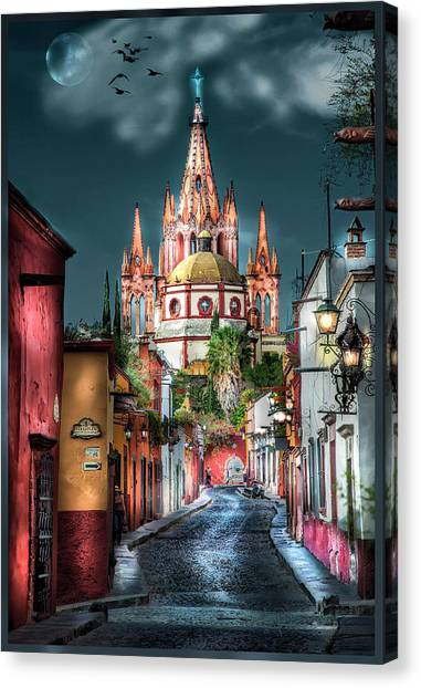 Fairy Tale Street Canvas Print